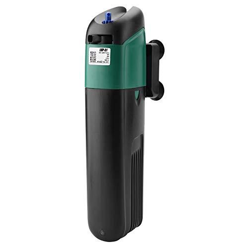 Pssopp UV Aquarium Sterilisator UV Sterilisator Licht Klärfilter Filter Wasserreiniger Belüftungspumpe Innenfilter Tauchpumpe für Aquarium Süßwasser und Salzwasser(LUP-02)