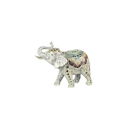 Art Deco Home - Figura Decorativa Resina Elefante 28 cm - 15991SG