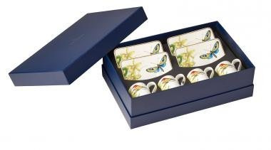 Villeroy & Boch Amazonia Set Expresso, 8 pièces, Porcelaine Bone China, Multicolore