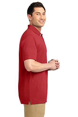 Port Authority ezcotton Pique Polo Shirt Tomato Red