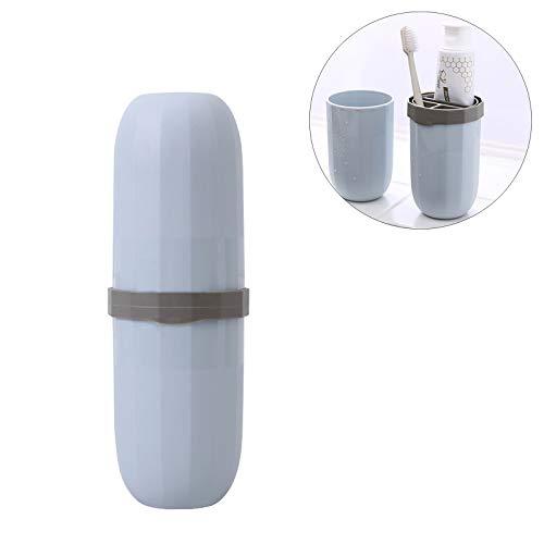 ShopSquare64 Wash Cup Tasse Zahnbürste Cup Outdoor Camping Portable Wash Organizer Aufbewahrungskoffer Zahnpasta Fall