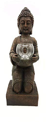 Resina de figura de Buda con portavelas 44cm alto, Feng Shui Escultura