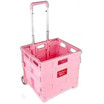 Tooltime 174 Pink Folding Shopping Trolley Cart Crate Boot