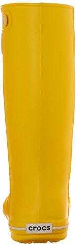 Stivali Da Pioggia Donna Crocs Da Donna Coccodrillo Jaunt Giallo (limone)