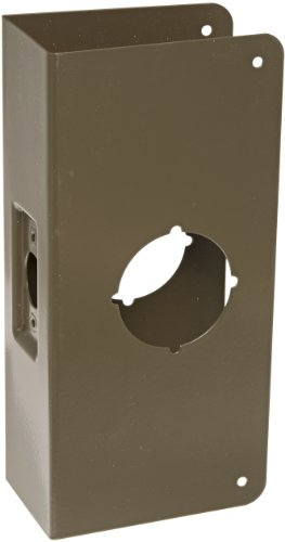 Don-Jo 212C-CW 22 Gauge Stainless Steel Wrap-Around Plate, Oil Rubbed Bronze Finish, 4 Width x 9 Height, 2-3/8 Backset, 2-1/2 Door Size, For Thicker Doors by Don-Jo (10b Finish)