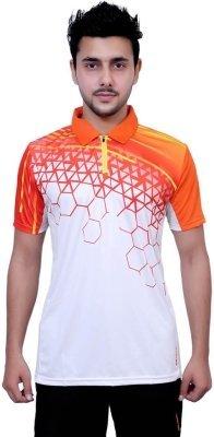 Vector X Men's Polo Neck T-Shirt VTD-035B Orange/White S