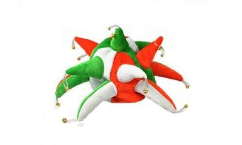 Flagmania® Irland-Farben Irische St. Patrick Day Supporters Jester Hut – Kostüm-Kostüm, 59 mm ()
