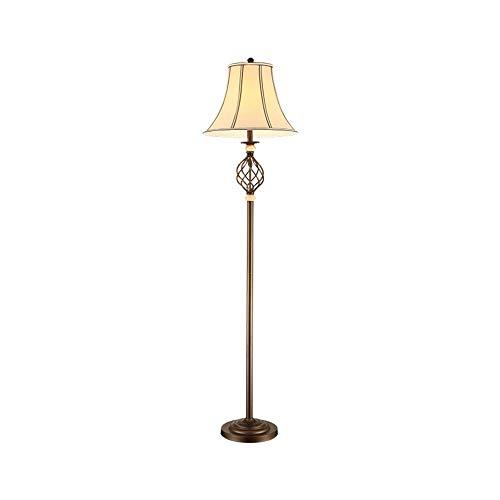 WPCBAA Lámpara de pie torcida Grande, lámpara de pie Vertical E27 de Dormitorio de la Sala de Estar Hueca de Metal Lámpara de pie Vertical, Pantalla de Tela Curva