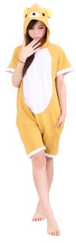UUstar ® New Short Sleeves Unisex Nachtwäsche Kapuzenpullover Strampelanzug Pyjama Cosplay Kostüme für Pokemon Dinosaur Stich Rilakkuma Mein Nachbar Totoro T -shirt (M (160cm-169cm), (Pokemon Kigurumi Kostüme)