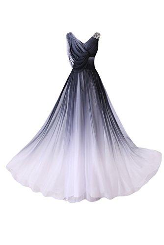 Gorgeous Bride Abendkleider Elegant Lang 2017 Damen Chiffon A-Linie Ballkleider Festkleider Cocktailkleider -36 Mehrfarbig (Kleid Billig Mittelalter)