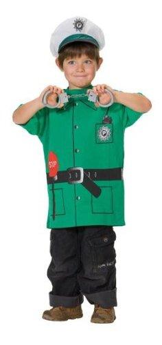Spielshirt Polizei Spieleshirt T-Shirt Shirt Politesse Cop grün Officer Gr. 104, 116, 128, 140, 152, 164, (Kostüme Tshirt Cop)