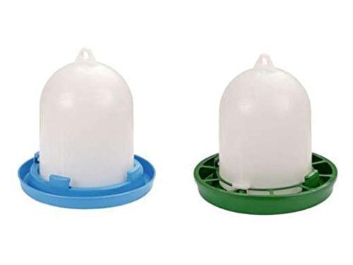 Wachteltränke ca 1,5 l und Wachtelfutterautomat ca 1 kg Futterautomat Wasserautomat Futterspender Wasserspender für Wachteln Küken und kleines Geflügel Stülptränke