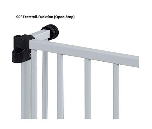 Impag Türschutzgitter Treppenschutzgitter 62 – 222 cm selbstschließend – zum Klemmen – ohne Bohren Swing + 20 Weiß - 5