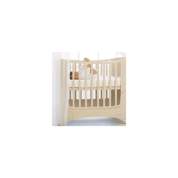 "Leander bed, beech white wash  'White Glaze ""White Wash = with visible wood grain Can be used from babies first day to school age Including all mattress and slatted frame parts 3"