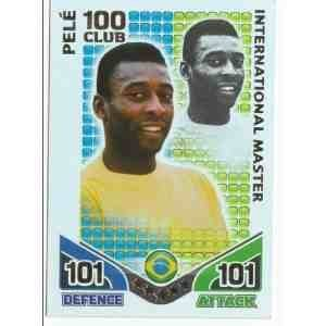 Match Attax ENGLAND Hundred Club BRAZIL Pele