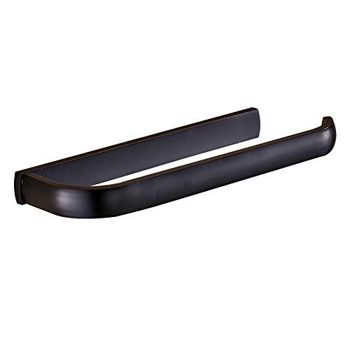 Mattschwarz Handtuchhalter, 30 cm modernes minimalistisches Design Handtuchhalter mit Befestigungsschrauben, Badzubehör (öl 30 Eingerieben Bronze Handtuchhalter)