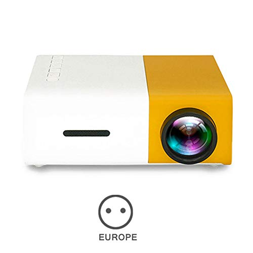Glomixs YG300 Projector Mini Projector, Portable Theater Home Office HD 1080P LED LCD Video Projector for Children Present, Video TV Movie, Outdoor Entertainment with HDMI USB AV Interfaces
