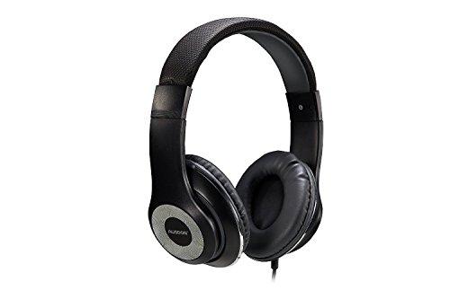 Ausdom F01 Auricular Ligero Multimedia Ajustable Air-Fi HiFi HD Estéreo Universal Port 3.5mm Plegable con cable y con Micrófono Incorporado 14 horas de reproducción, Compatible para iPhone, Samsung, HTC Smarphone, Negro