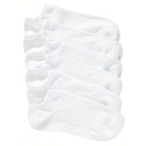 6 x Ladies Short Trainer Sport Socks (Cotton Rich)Colour:White Shoe Size:UK 4-6