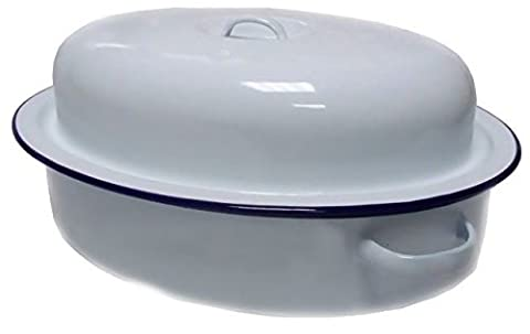 Falcon Enamel Oval Roaster 26cm Dish Casserole Dinner Lunch Party Serving Pan Oven Safe Cookwear