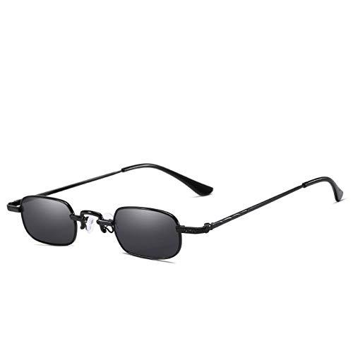 ZRTYJ Sonnenbrille Kleine Punk Sonnenbrille Männer Retro Frauen Sonnenbrille Cool Gothic Rot Schwarz Brille New Ultralight Metal Frame