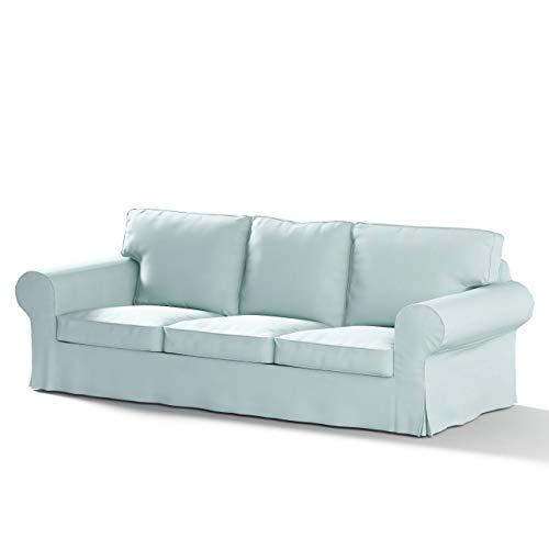 Dekoria Ektorp 3-Sitzer Schlafsofabezug, ALTES Modell Sofahusse passend für IKEA Modell Ektorp hellblau