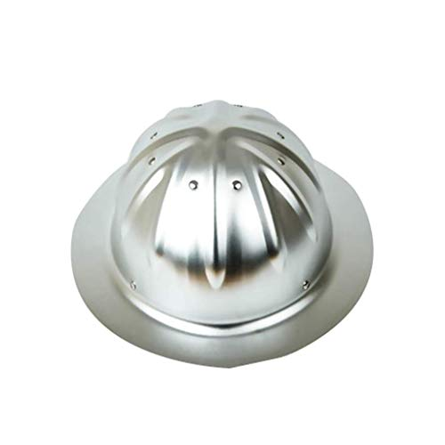 Bauarbeiterhelm mit verstellbarem Helm, Bauhelm Aluminium Hard hat,Silver