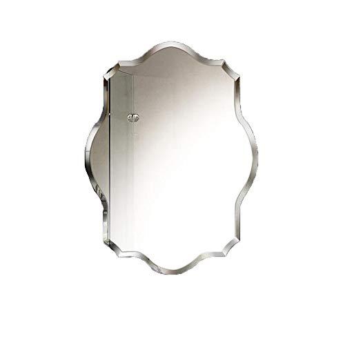 Klar Abgeschrägten Glas Licht (INTER FAST Kosmetikspiegel Badspiegel Wandmontierter Polygon-Deko-Spiegel HD-Rahmenloser Spiegel Badezimmerspiegel (Size : 60 * 80cm))