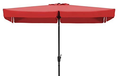 Schneider Sonnenschirm New York, rot, 270x150 cm rechteckig, Gestell Aluminium/Stahl, Bespannung Polyester, 4.6 kg