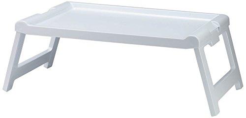 Denox 10250.050 zusammenklappbares Betttablett, 57,5x35cm, Höhe aufgeklappt 23,5cm, Weiß