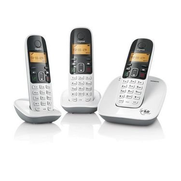 Gigaset A490 Trio white cordless phone  available at amazon for Rs.5999