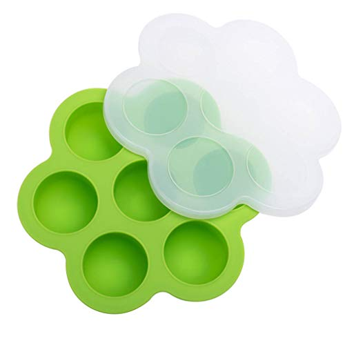 beIilan 7 Multifunctional Silicone Egg Bites Molds Reusable Storage Container Children Food Tray Food Storage Tray