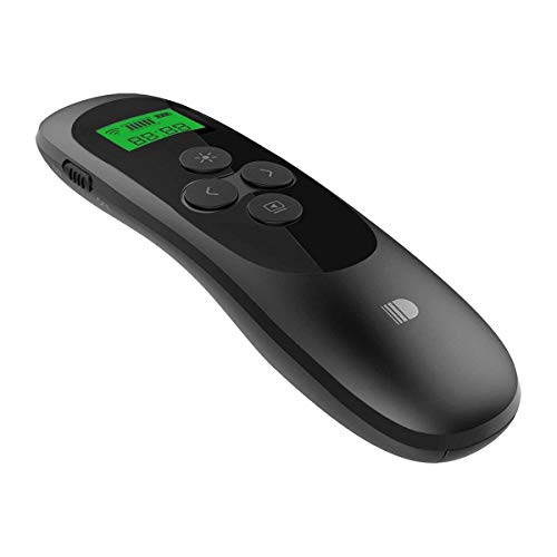 Doosl Puntatore Laser, Presentatore Wireless con display LCD e timer, 2.4GHz Wireless Presenter Telecomando Powerpoint Clicker - Noir