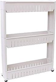AMERTEER 3-Tier Multipurpose Shelf, Corner rust free light shelf for office, kitchen, bedroom, bathroom, laund