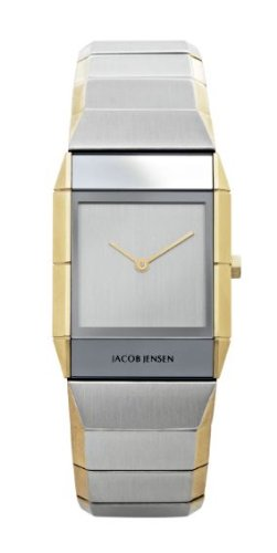 Jacob Jensen Sapphire Series Women's Quartz Watch with Silver Dial Analogue Display and Silver Stainless Steel Plated Strap 563