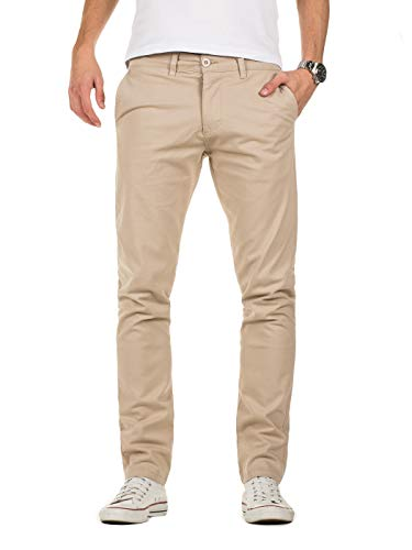 Yazubi Herren Chino Hose - Modell Kyle Slim fit - Chinohose Casual mit Stretch, Beige (Plaza Taupe 161105), W40/L30