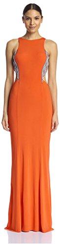 Terani Couture Damen Bademantel mit Ausschnitt seitlich verziert - - 44 -