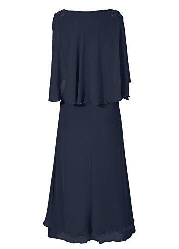 Dresstells, A-ligne robe mousseline de mère de mariée Bleu