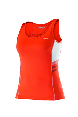 HEAD Damen Club Tank Top Women Oberbekleidung, Koralle, L -