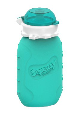 Squeasy Snacker 6oz, Aqua. The D...