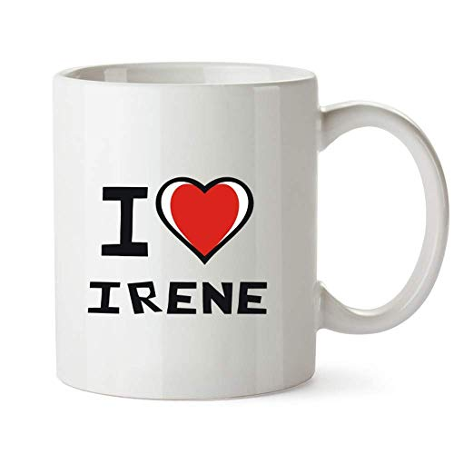 I love Irene Bicolor Heart - Female Names - Mug