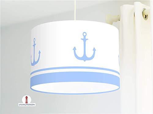 Lampenschirm fürs Kinderzimmer und Schlafzimmer mit Ankern maritim aus Baumwolle - andere Farben...