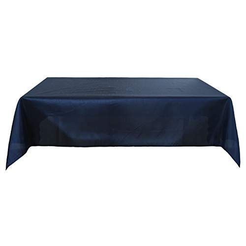 Deconovo Nappe Carree 130x130 cm Impermeable Nappe Bleu Marine pour Table Exterieur Table Basse de Salon