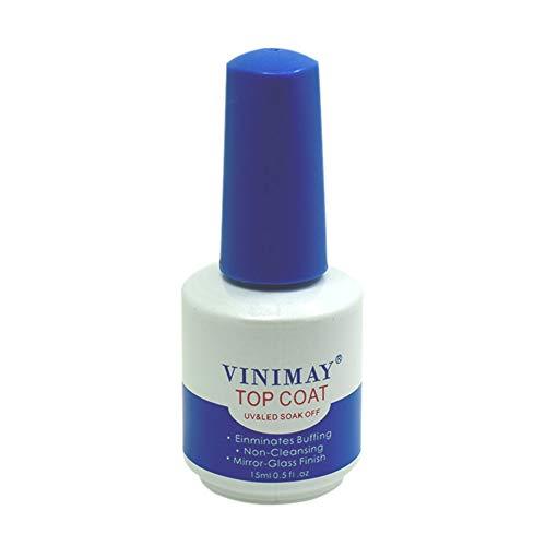 e Quick Dry Gel Nagellack Basis Nagellack Top und Base Coat Tränken Sie UV LED Gel Nagellack Reinforce Base Coat ()