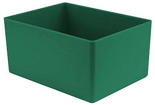 25 Stück Einsatzkasten grün, Höhe 54 mm, LxB = 160x106 mm, Profiqualität für Industrie und Gewerbe