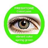 Farbige Kontaktlinsen Jahreslinsen grün hellgrün 'Spring Green' gute Deckkraft ohne Stärke mit Aufbewahrungsbehälter