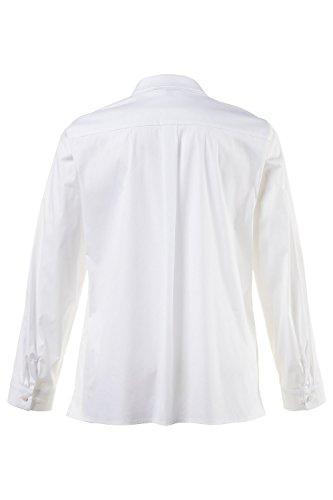 Ulla Popken Femme Grandes Tailles Chemisier 705844 Blanc