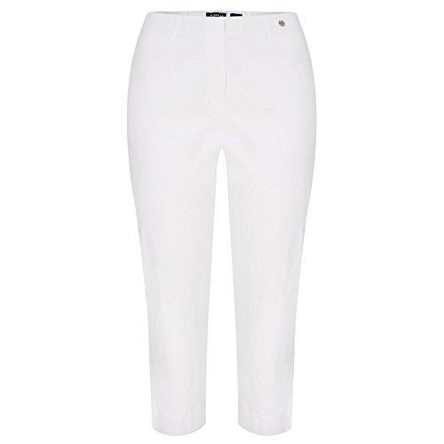 Robell Marie 07 Slim Fit Stretchhose Schlupfhose Damen Capri Hose #Marie 07 (38, weiß(10)) Capri Crop Hose