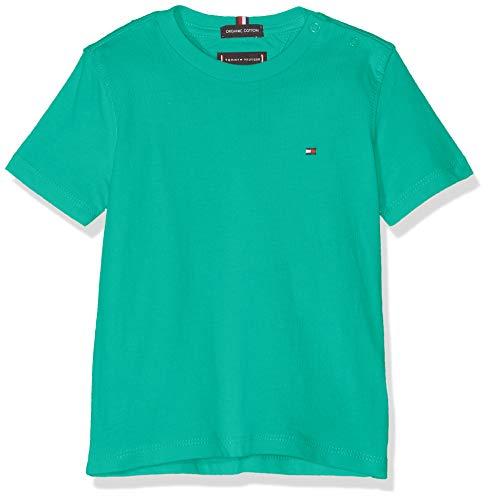 Tommy Hilfiger Baby-Jungen Essential ORIGINAL CTTN Tee S/S T-Shirt, Grün (Dynasty Green 303), (Herstellergröße: 92)