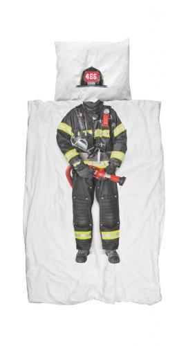 Bettwäsche Feuerwehr Kinderbettwäsche Snork 135 Cm X 200 Cm 100% Baumwolle Neu!